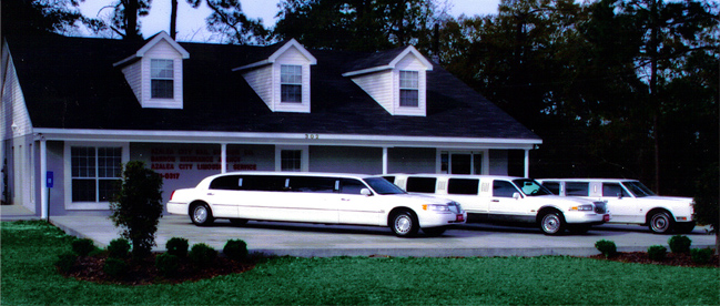 Limousines In Front of Office